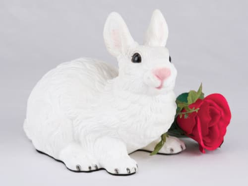 Rabbit - All White figurine cremation urn for ashes