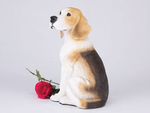 beagle dog cremation urn figurine for ashes