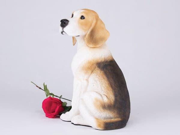 beagle dog cremation urn figurine for ashes