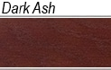 Dark ash wood sample for cremation products