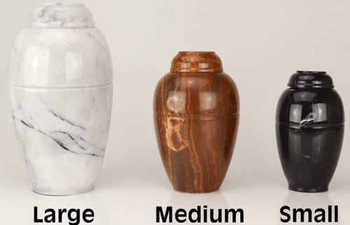 Marble urn for pet cremation ashes