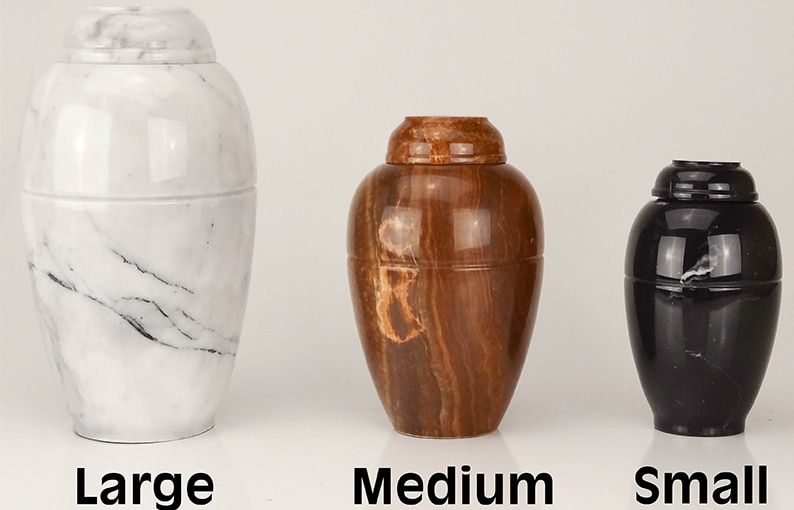 Marble Vase Series Cremation Urn For Pet Ashes