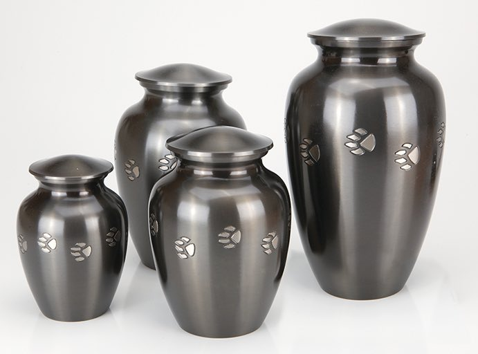Classic Paw Print Series traditional vase urn for pet remains