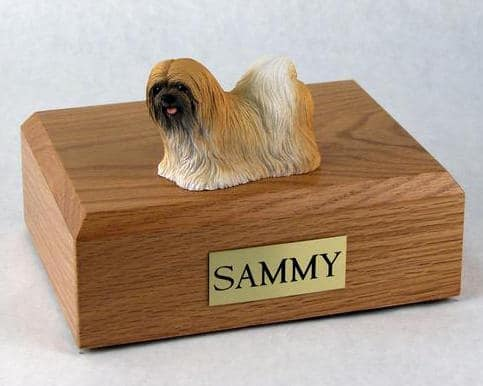 Lhasa Apso Figurine Cremation Urn for dog ashes