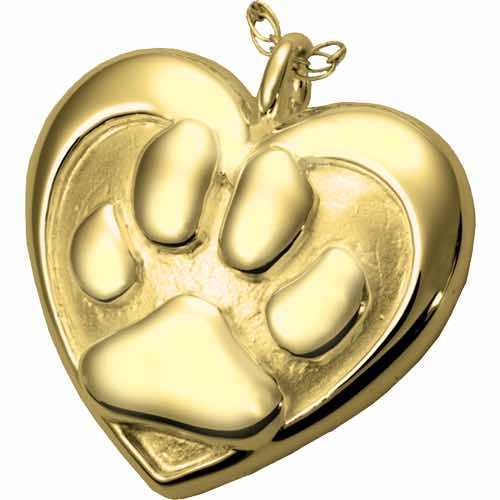 14k Gold Pet Cremation Pendant Jewelry