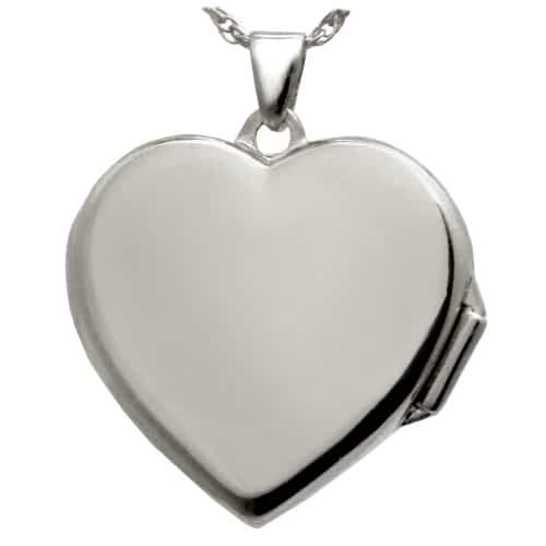 Heart Double Photo Locket, Actual Print Pendant, Sterling Silver 3287LS, rear