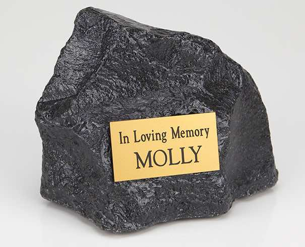 Rock cremation urn, indoor and outdoor use, small size