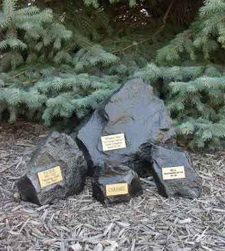 Rock cremation urn, indoor and outdoor use, sizes