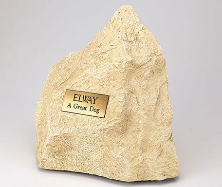Limestone/resin rock pet cremation urn for ashes, large size