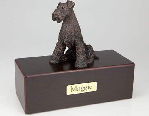 Airedale Terrier Cremation Figurine Urn