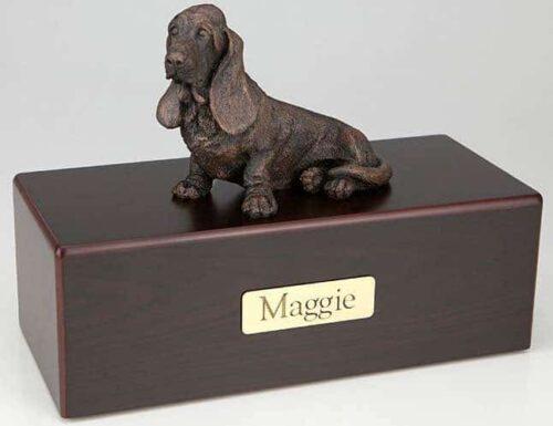 Basset Hound Cremation Figurine Urn