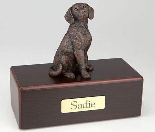 Bronze style Beagle Cremation Figurine Urn