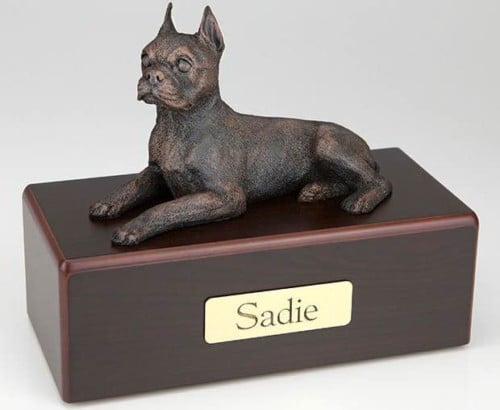 Boston Terrier Cremation Figurine Urn
