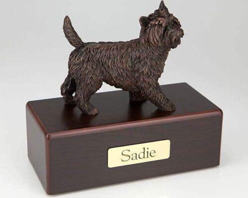 Cairn Terrier Cremation Figurine Urn