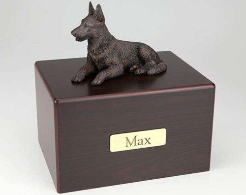 German Shepherd Cremation Figurine Urn