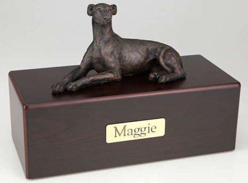 Greyhound/Whippet Cremation Figurine Urn