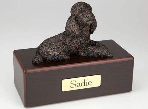 Miniature Poodle Cremation Figurine Urn
