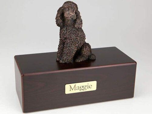 Poodle Cremation Figurine Urn