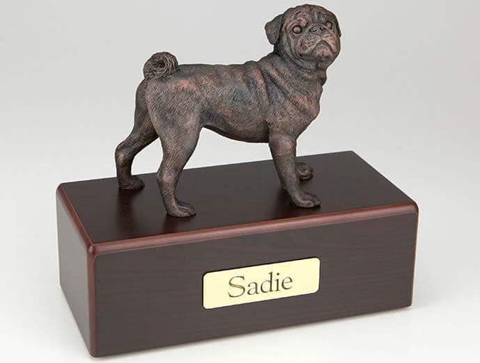 Pug Cremation Figurine Urn