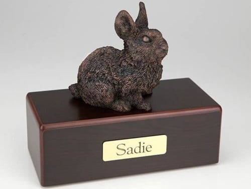 Rabbit Cremation Figurine Urn