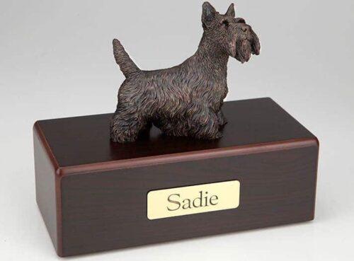 Scottish Terrier Cremation Figurine Urn