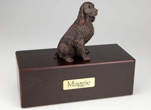 Springer Spaniel Cremation Figurine Urn
