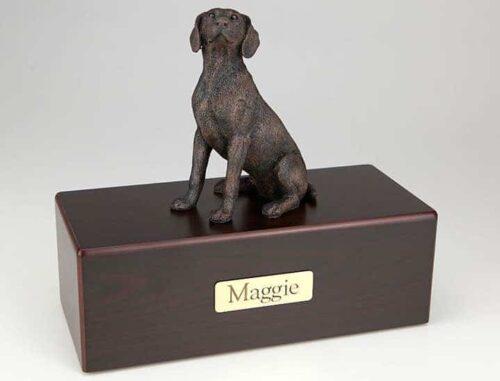 Weimaraner Cremation Figurine Urn