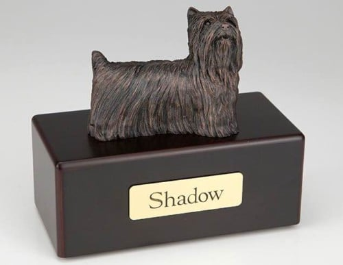 Yorkshire Terrier Cremation Figurine Urn