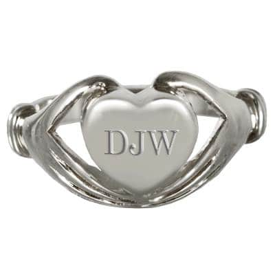 Sterling Silver Heart Cremation Ring, with engraving