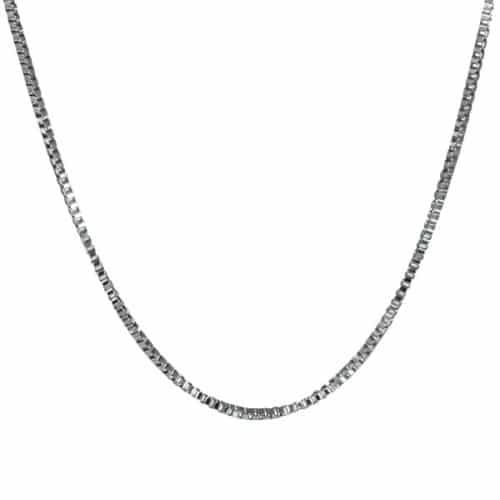 "24"" Stainless Steel Box Chain, 2.5mm"