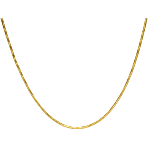 "20"" gold-plated snake chain"