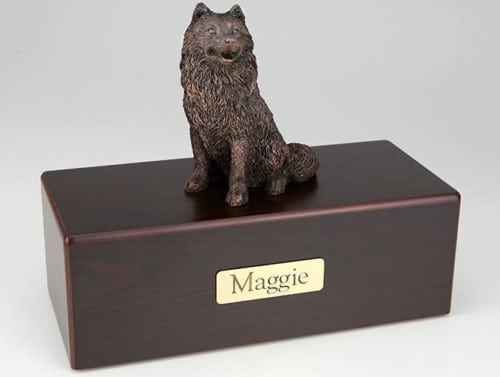Samoyed Cremation Figurine Urn