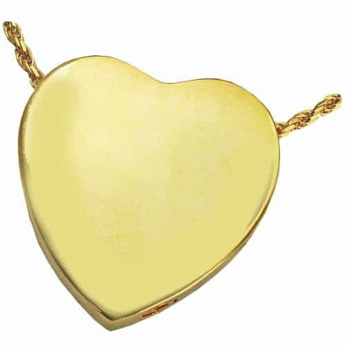 Peaceful Heart Cremation Pendant 3109 Sterling Silver and Gold