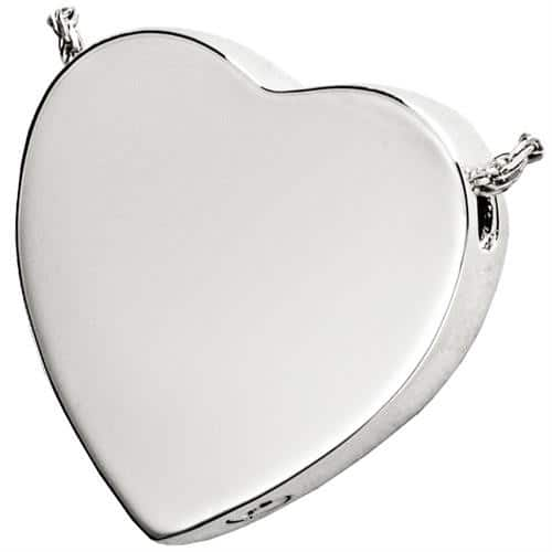 Peaceful Heart Cremation Pendant 3109 Sterling Silver