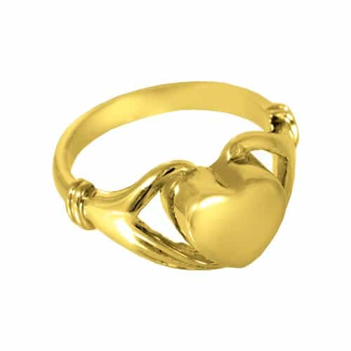 14k Gold Plated Heart Cremation Ring