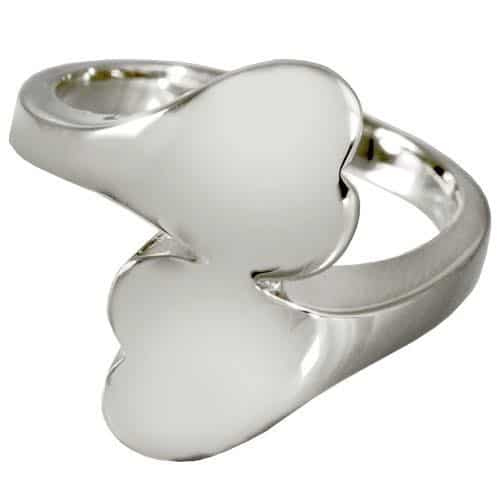 Sterling Silver Companion Heart Cremation Ring
