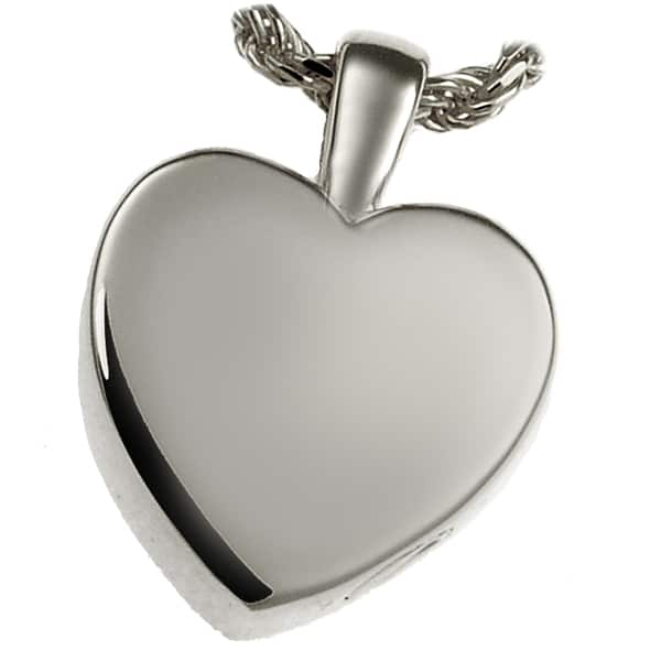 Classic Small Heart Cremation Pendant