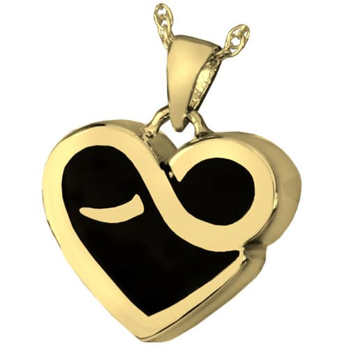 18k Gold Plated Infinite Heart Cremation Pendant