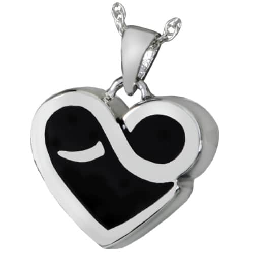 Sterling Silver Infinite Heart Cremation Pendant