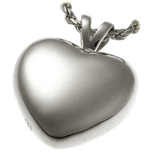 Sterling Silver Strong Heart Cremation Pendant for Pet Ashes 3107