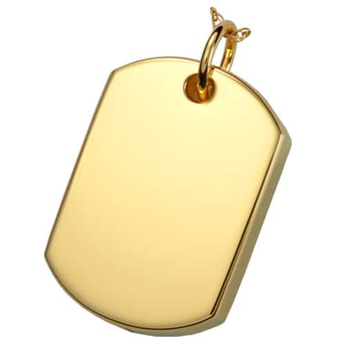 18k gold plated pet cremation jewelry dog tag pendant 18k gold plated dog tag cremation pendant aloadofball Choice Image