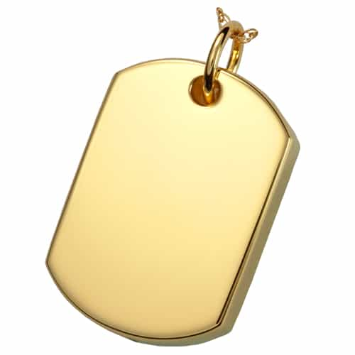 18k gold plated pet cremation jewelry dog tag pendant 18k gold plated dog tag cremation pendant aloadofball Image collections
