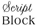 Script and block jewelry engraving font samples