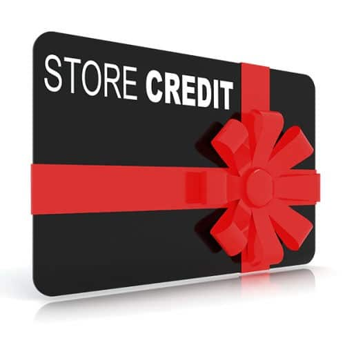 Store credit/gift card