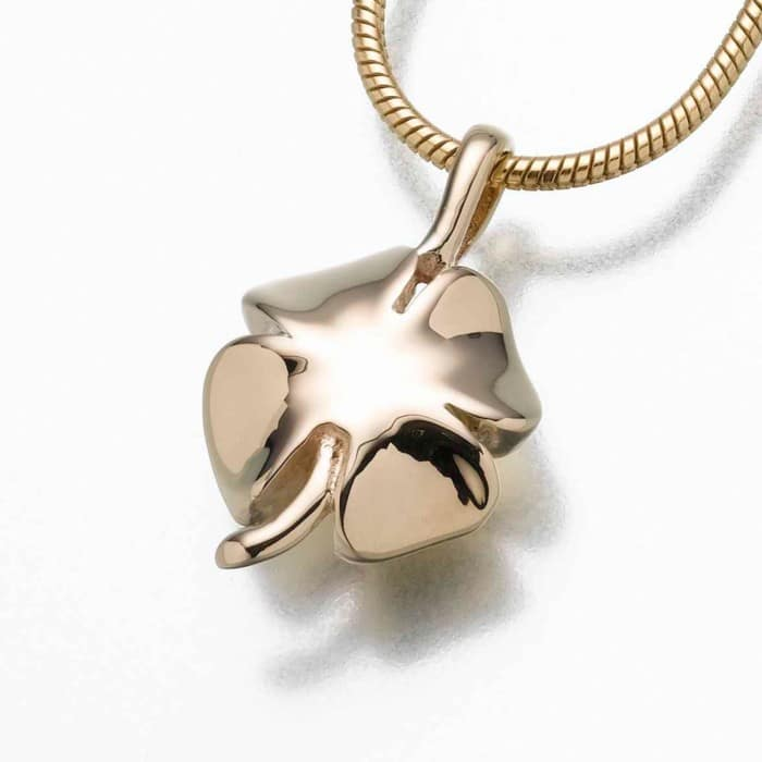 4 Leaf Clover Cremation Pendant, gold vermeil, 167GV