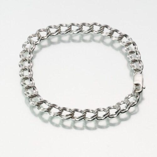 7.5 Inch Double Link Bracelet, sterling silver, 164SS