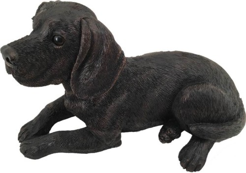 Beagle bronze look large dog figurine cremation urn