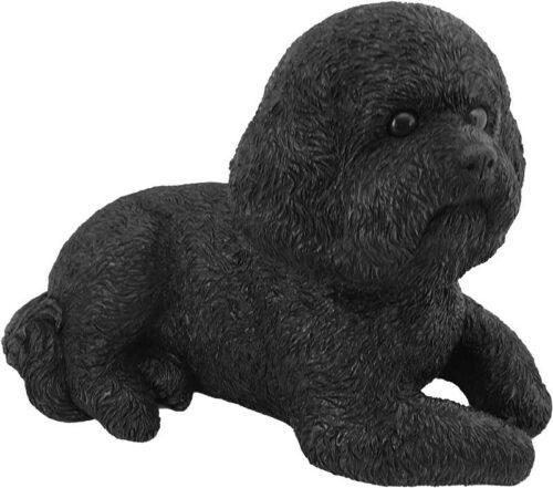 Bichon Frise bronze look large dog figurine cremation urn