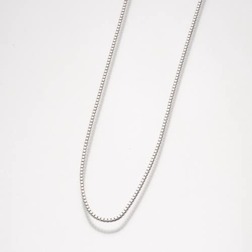 Box Chain (18in and 24in), sterling silver, 139SS