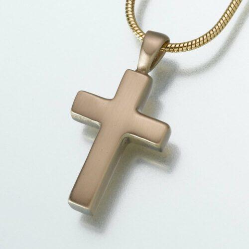 Brass Cross Cremation Pendant 114BZ